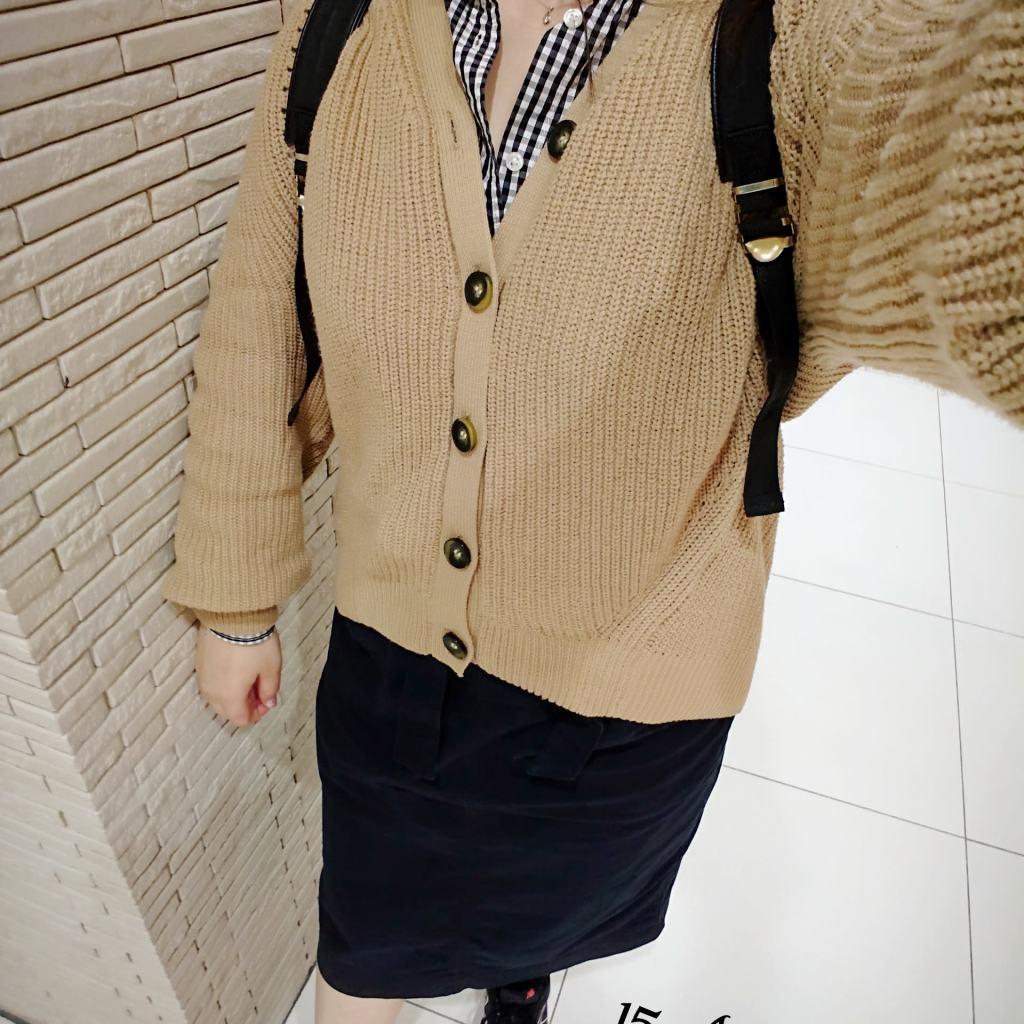 ちょい長めが今っぽい♡タイトスカートコーデ
