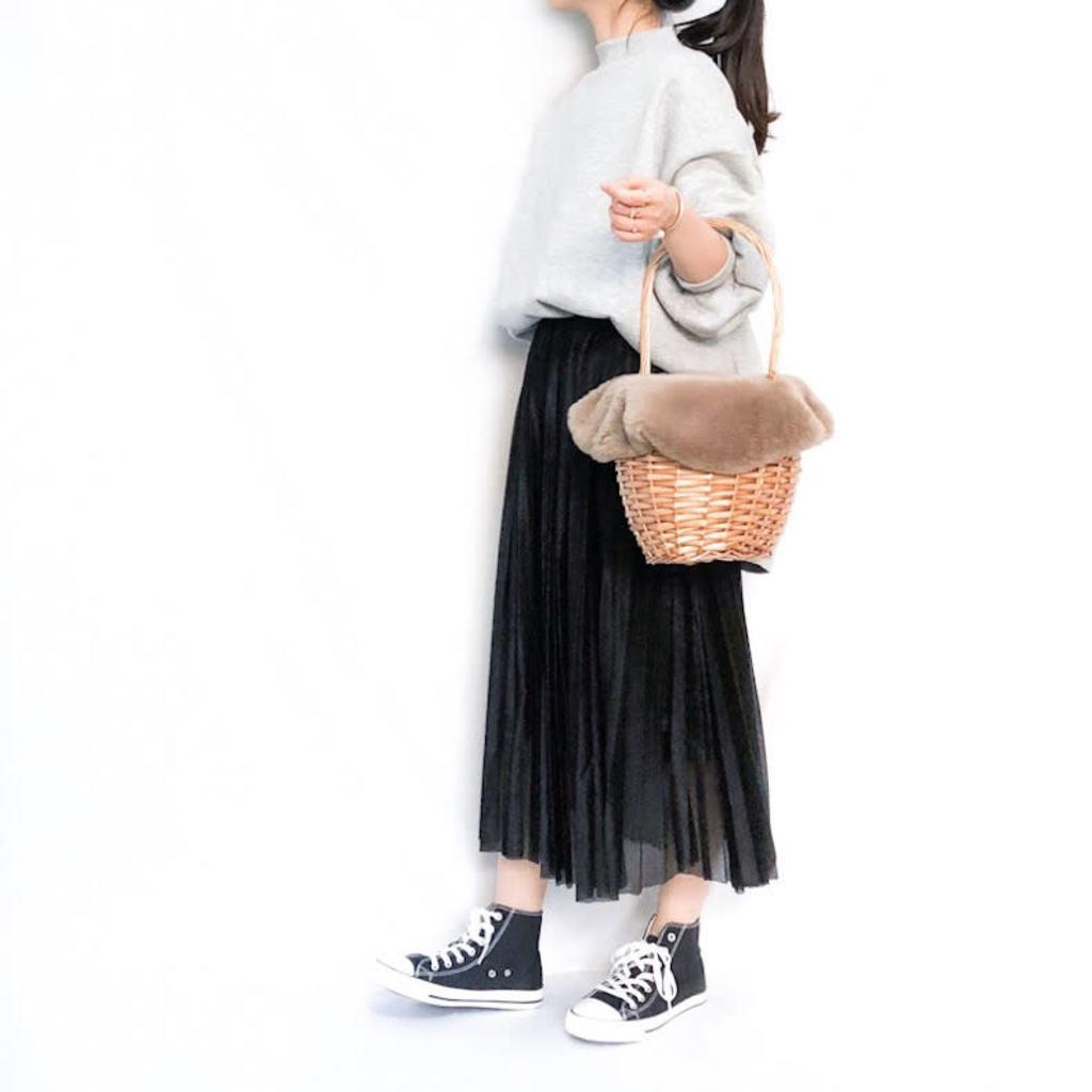 寒い季節もふんわり♡シフォン&プリーツスカート