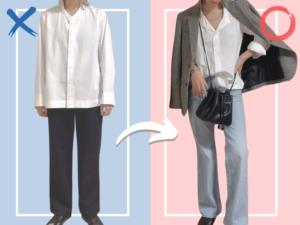 ダサ見え回避!【ユニクロ +J】新作「美人見えシャツ」のNGコーデ&OKコーデ